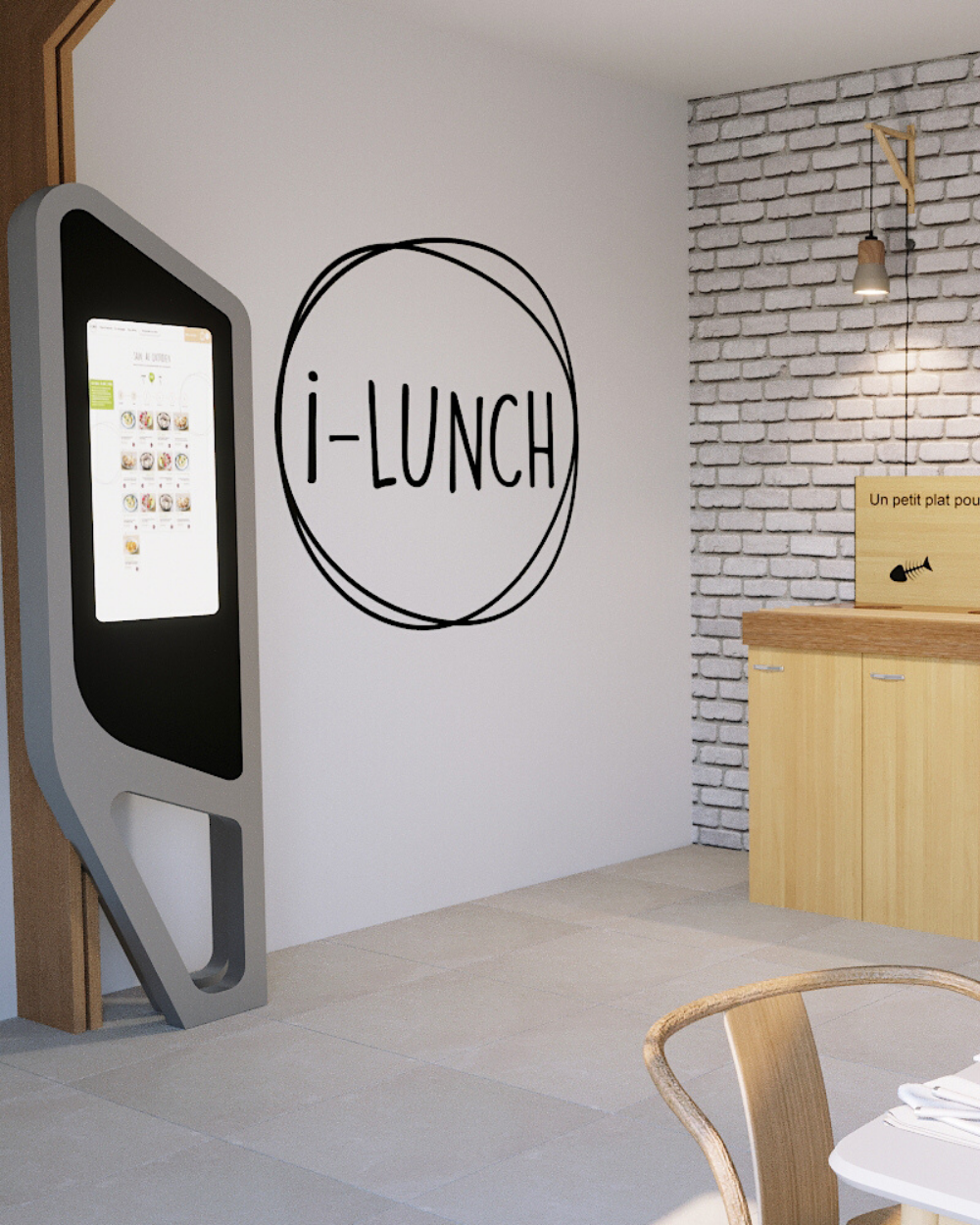 Borne connecté restaurant click and collect one entreprise